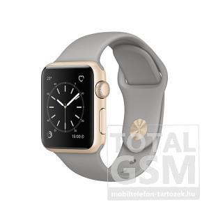 Apple Watch Series 1 38mm arany színű alumíniumtok betonszürke sportszíjjal
