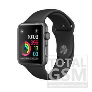 Apple Watch Series 1 38mm asztroszürke alumíniumtok fekete sportszíjjal