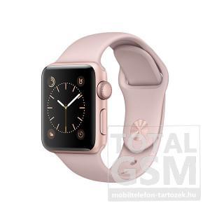 Apple Watch Series 1 38mm rozéarany színű alumíniumtok rózsakvarc színű sportszíjjal