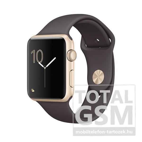 Apple Watch Series 1 42mm arany színű alumíniumtok kakaószínű sportszíjjal