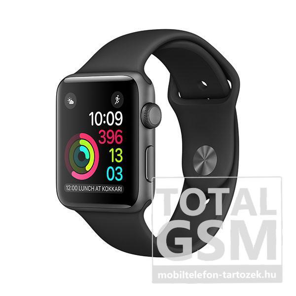 Apple Watch Series 1 42mm asztroszürke alumíniumtok fekete sportszíjjal