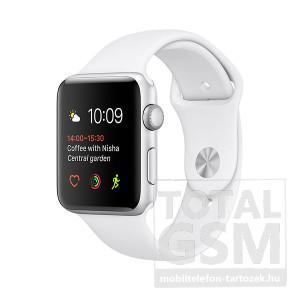 Apple Watch Series 1 42mm ezüst színű alumíniumtok fehér sportszíjjal