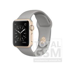Apple Watch Series 2 38mm arany színű alumíniumtok betonszürke sportszíjjal