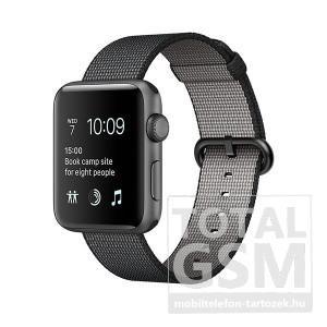 Apple Watch Series 2 38mm asztroszürke alumíniumtok fekete szőtt műanyag szíjjal