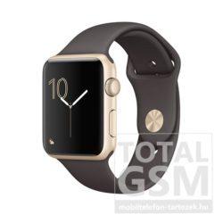 Apple Watch Series 2 42mm aranyszínű alumíniumtok kakaószínű sportszíjjal
