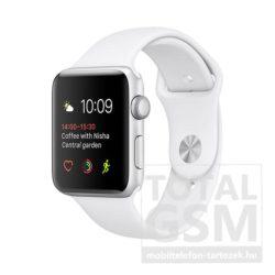 Apple Watch Series 2 42mm ezüst színű alumíniumtok fehér éjkék sportszíjjal