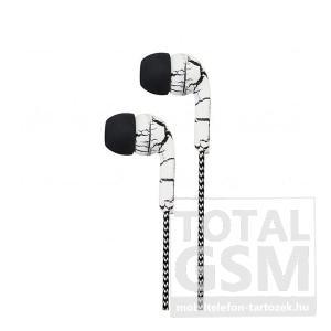 Astrum EB200 univerzális 3,5mm jack dual color fehér-fekete sztereó headset mikrofonnal, szövetbevonatos kábellel A11020-Q