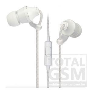 Astrum EB400 univerzális 3,5mm fehér, fémházas sztereó headset zajszűrős mikrofonnal, prémium hangzással A11040-Q
