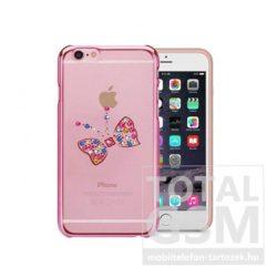 Astrum MC250 keretes pillangó mintás, színes Swarovski köves Apple iPhone 6 / 6S hátlapvédő pink