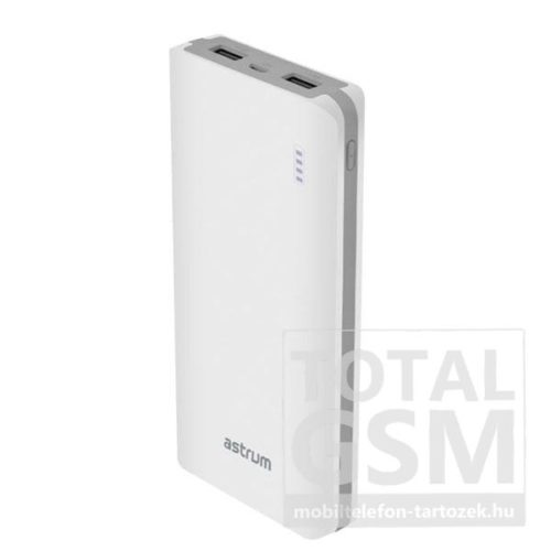 Astrum PB120 fehér Power Bank 10000mAh 1USB 2A