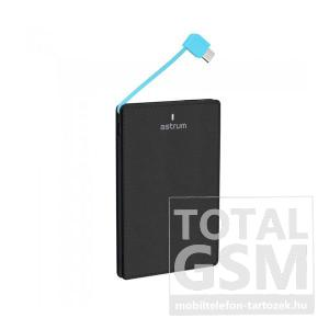 Astrum PB250 fekete ultravékony Power Bank 2500mAh 1USB 2A