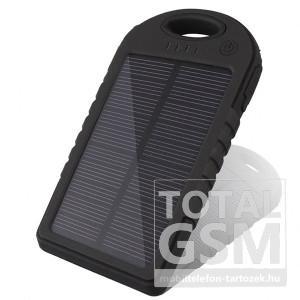Astrum PB500 fekete napelemes Power Bank 5000MAH 2USB