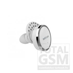 Astrum ET300 univerzális fehér bluetooth 4.1 MINI sztereo fülhallgató szett mikrofonnal, dokkolóval, A10530-Q