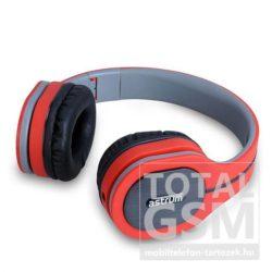 Astrum Fashion UV bőr piros fejhallgató HS730 A12073-N