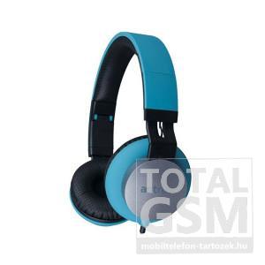 Astrum HS400 kék 3,5MM univerzális fejhallgató, beépített mikrofonnal, extra mély hangzással A12040-N
