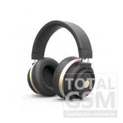 Astrum HT200 fekete-arany sztereó bluetooth V2.1 + EDR fejhallgató nagy fülpárnákkal, beépített zajszűrős mikrofonnal