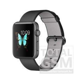 Apple Watch Series 2 42mm asztroszürke alumíniumtok fekete szőtt műanyag szíjjal