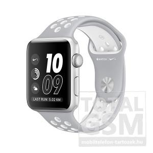 Apple Watch Nike+ S2 38mm ezüst színű alumíniumtok matt ezüst–fehér Nike sportszíjjal