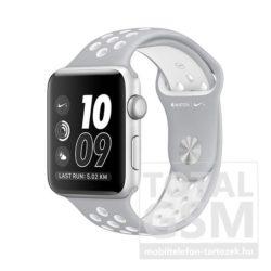 Apple Watch Nike+ S2 42mm ezüst színű alumíniumtok matt ezüst–fehér Nike sportszíjjal