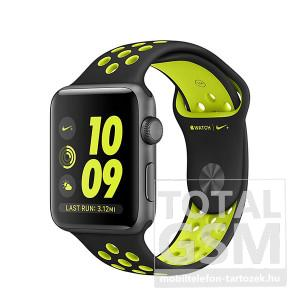 Apple Watch Nike+ S2 38mm asztroszürke alumíniumtok fekete–neonzöld Nike sportszíjjal