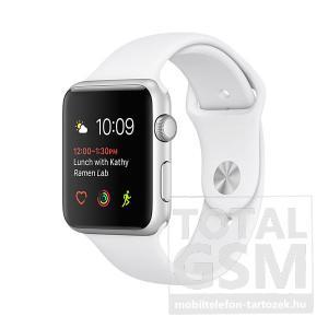 Apple Watch Series 2 38mm ezüst színű alumíniumtok fehér sportszíjjal
