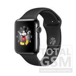 Apple Watch Series 2 38mm fekete színű alumíniumtok fekete sportszíjjal