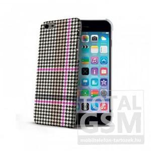 Apple iPhone 6 / 6s Fekete-Rózsaszín Celly Kockás Mintás Hátlapi Kemény Tok