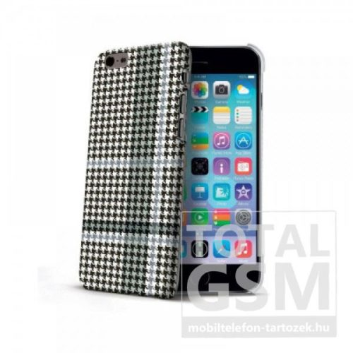 Apple-iPhone-6-6s-Fekete-Szürke-Celly-Kockás-Mintás-Hátlapi-Kemény-Tok-(Cell)