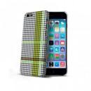 Apple iPhone 6 / 6s Fekete-Zöld Celly Kockás Mintás Hátlapi Kemény Tok
