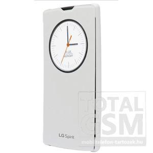 LG C70 Spirit Fehér Gyári Book Cover Ablakos Oldalra Nyíló Flip Tok