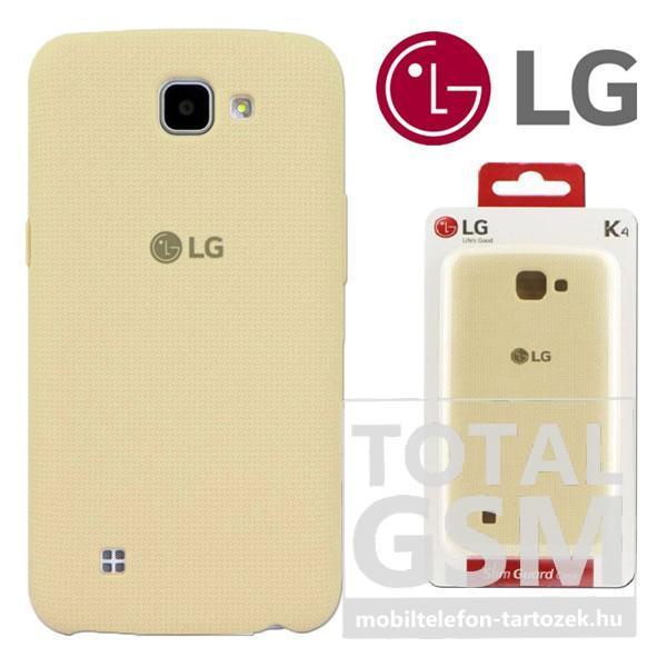 LG K4 Fehér Bézs Gyári Kemény Hátlapi Tok OLG-CSV-170-W