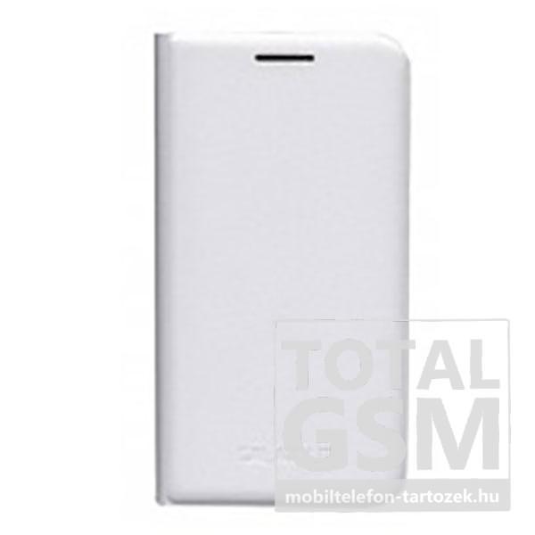 Samsung J100 Galaxy J1 Fehér Gyári Bőr Oldalra Nyíló Flip Tok