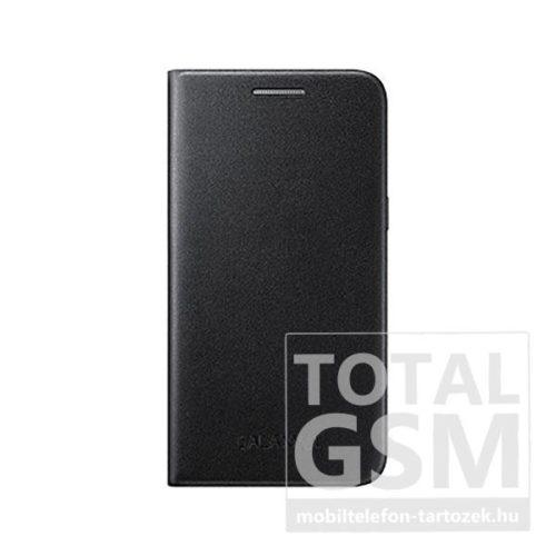 Samsung J100 Galaxy J1 Fekete Gyári Bőr Oldalra Nyíló Flip Tok