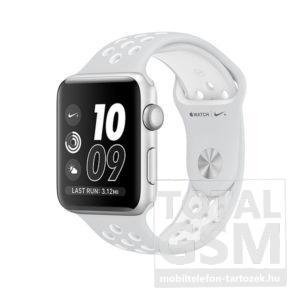 Apple Watch Nike+ S2 42mm ezüst színű alumíniumtok platinaszín–fehér Nike sportszíjjal
