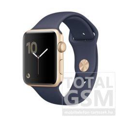Apple Watch Series 1 38mm arany színű alumíniumtok éjkék sportszíjjal