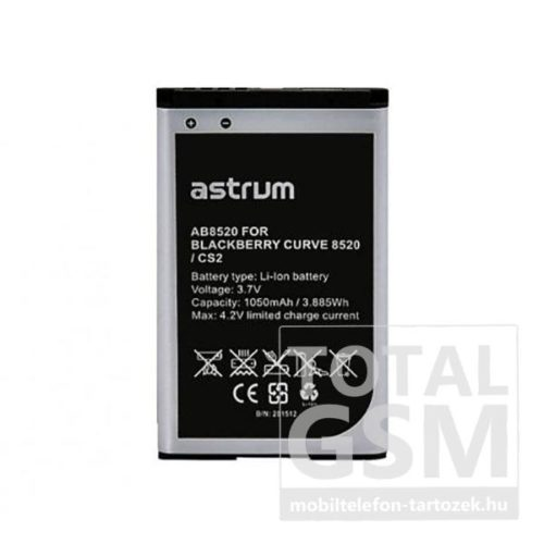 Astrum AB8520 BlackBerry Curve 8520 / C-S2 kompatibilis akkumulátor 1050mAh