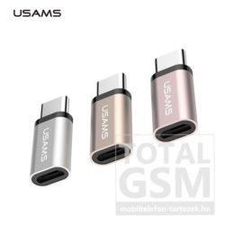 USAMS OTG SJ021 Rose Gold USB TYPE-C - Micro USB Átalakító