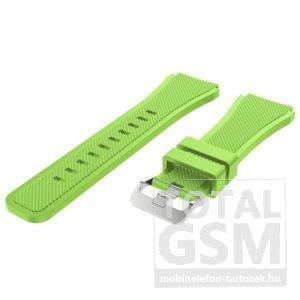 Samsung Galaxy Gear S3 Zöld Szilikon Óraszíj