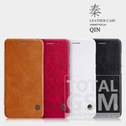 Huawei P10 Lite Nillkin Qin bőr notesz flip tok fehér / white