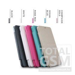 Samsung G955 Galaxy S8 Plus Nillkin Notesz Bőr Flip Tok Fehér / White
