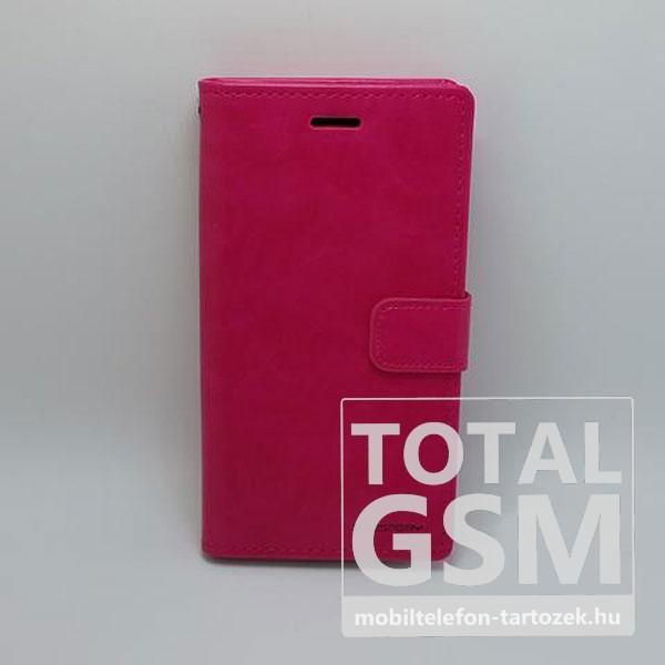 Samsung A520F Galaxy A5 (2017) Goospery Blue MoonNotesz Bőr Flip Tok Rózsaszín / Pink