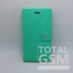 Samsung A520F Galaxy A5 (2017) Goospery Blue MoonNotesz Bőr Flip Tok Menta Zöld / Mint