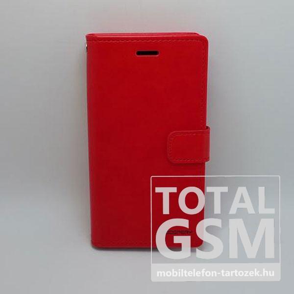 Samsung A520F Galaxy A5 (2017) Goospery Blue MoonNotesz Bőr Flip Tok Piros / Red