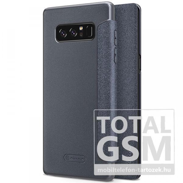 Samsung N950F Galaxy Note 8 Nillkin Sparkle Notesz Bőr Flip Tok Szürke / Grey