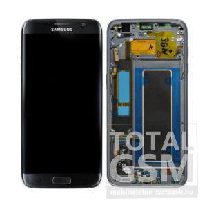Samsung G935 Galaxy S7 Edge LCD Kijelző+Érintőplexi+Keret Fekete Gyári