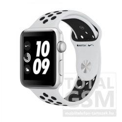 Apple Watch Nike+ S3 42mm ezüst színű alumíniumtok platinaszín–fekete Nike sportszíjjal MQL32