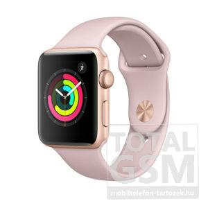 Apple Watch S3 42mm Aranyszínű alumíniumtok rózsakvarcszínű sportszíjjal MQL22