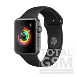 Apple Watch S3 42mm Asztroszürke alumíniumtok fekete sportszíjjal MR362