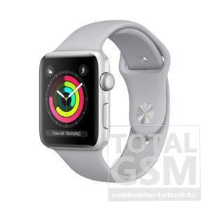 Apple Watch S3 42mm Ezüstszínű alumíniumtok ködszürke sportszíjjal MQL02