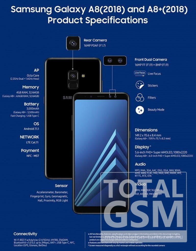 Samsung Galaxy A8 (2018) Új Kártyafüggetlen Mobiltelefon www.mobiltelefon-tartozek.hu